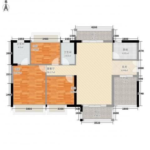 庄士8号3室1厅2卫1厨141.00㎡户型图