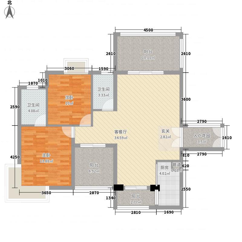 水蓝湾107.00㎡水蓝湾户型图1栋1单元A-B户型2室2厅2卫户型2室2厅2卫
