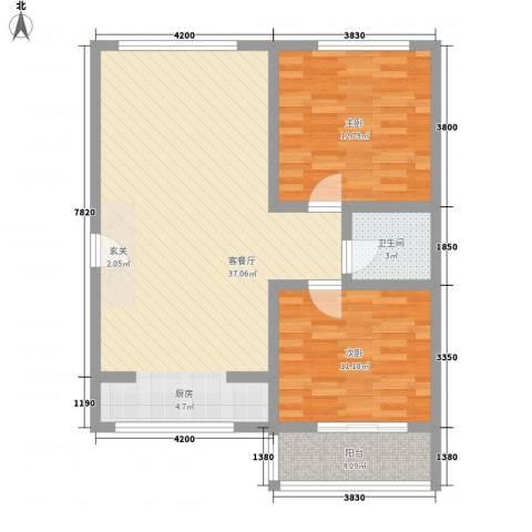 吴兴花园2室1厅1卫0厨97.00㎡户型图
