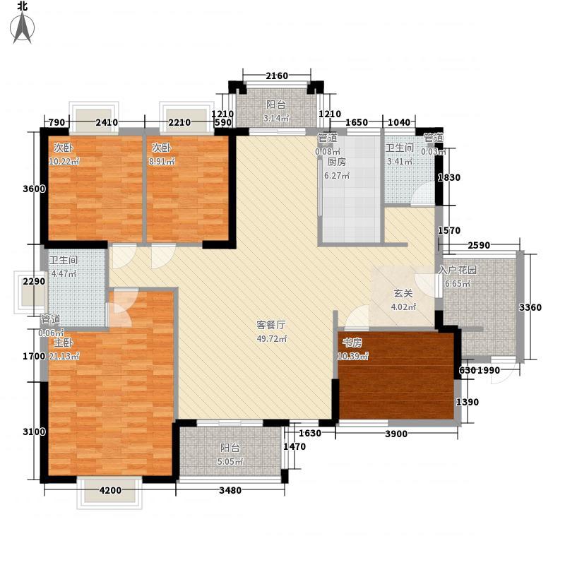 海南之心彼岸159.63㎡海南之心彼岸户型图8幢C-1户型4室2厅2卫1厨户型4室2厅2卫1厨