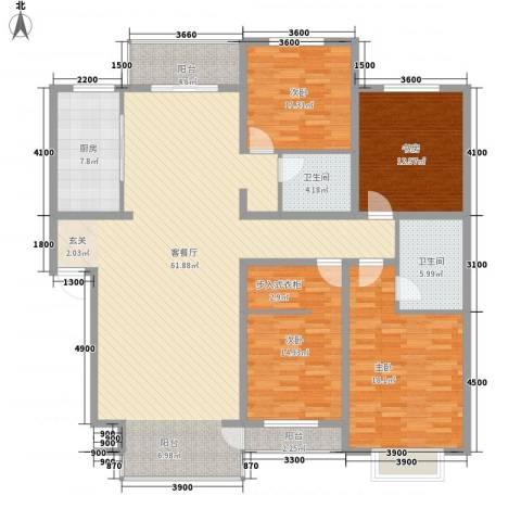 巨海城九区4室1厅2卫1厨202.00㎡户型图