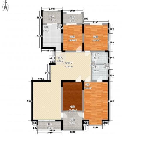 天赐园(和平区)4室1厅2卫1厨182.00㎡户型图