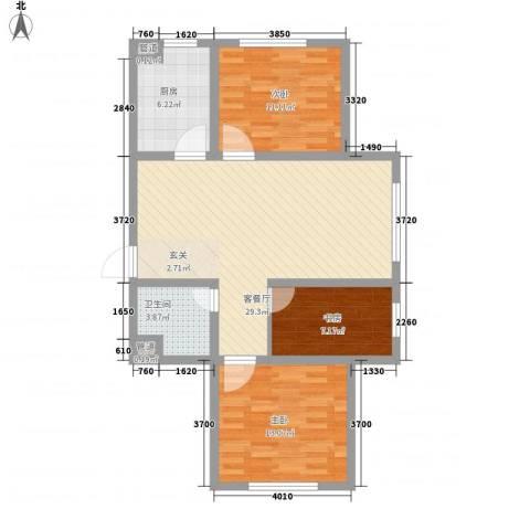 托斯卡纳3室1厅1卫1厨102.00㎡户型图