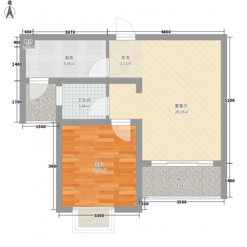 电力小区一居室22户型1室1厅1卫1厨