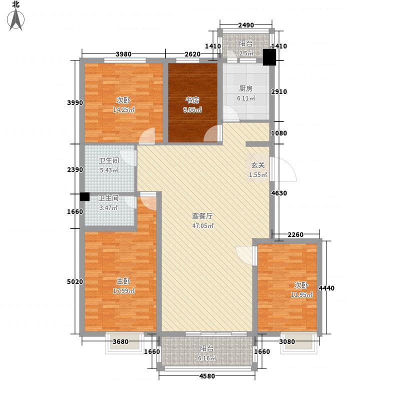 花好悦园142.55㎡花好悦园户型图4室2厅2卫户型10室