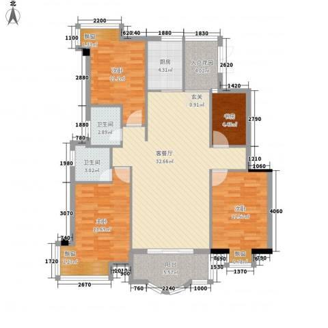 左海帝景4室1厅2卫1厨133.00㎡户型图