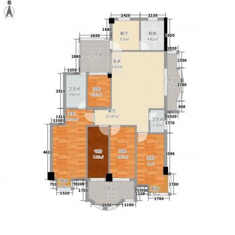 左海帝景5室2厅2卫1厨158.00㎡户型图