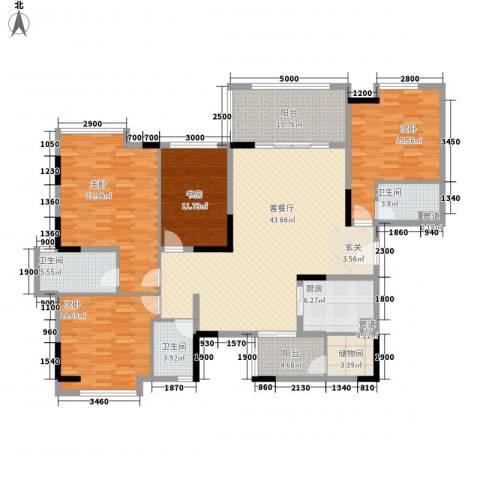 丰泰观山碧水4室1厅3卫1厨207.00㎡户型图