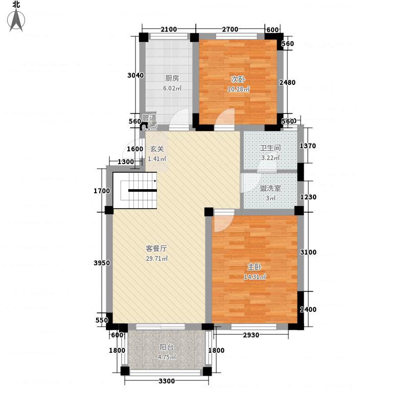 景湖时代城二期景湖时代城二期2室2厅1卫户型2室2厅1卫