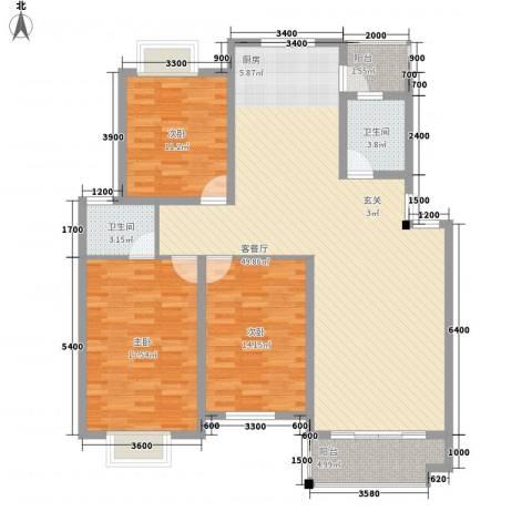 芍药街坊3室1厅2卫0厨151.00㎡户型图