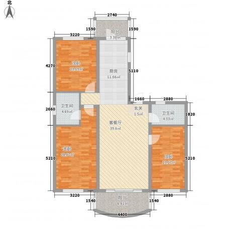 四季芳洲3室1厅2卫0厨103.35㎡户型图