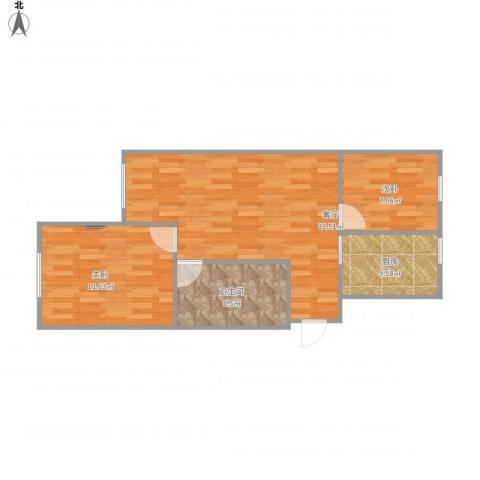 益丰乾城2室1厅1卫1厨73.00㎡户型图