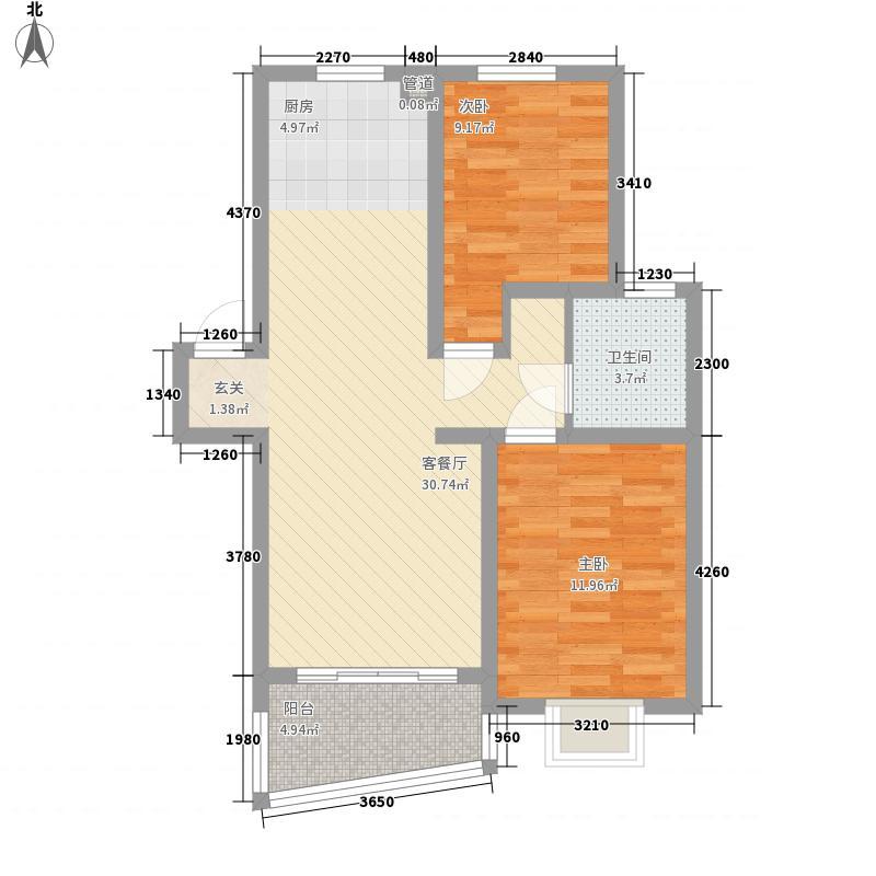 省直和平花园87.00㎡省直和平花园2室户型2室