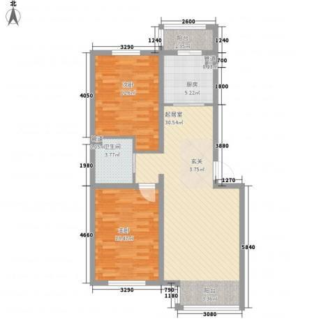 宜家70802室0厅1卫1厨90.00㎡户型图