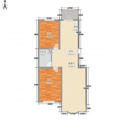 圣淘沙家园2室1厅1卫0厨114.00㎡户型图