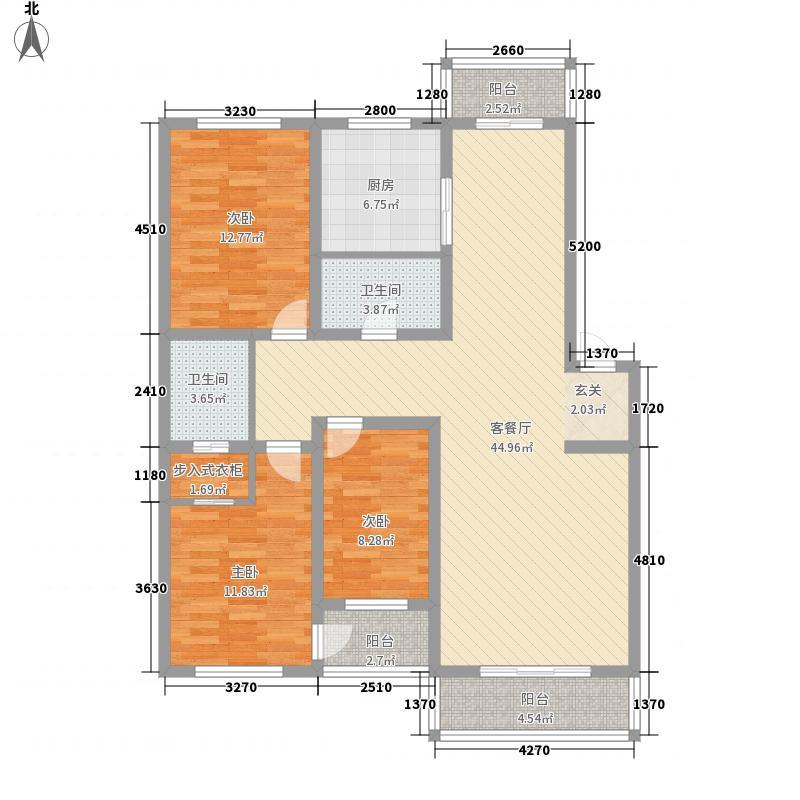万和顺景131.29㎡万和顺景户型图3室2厅2卫户型10室