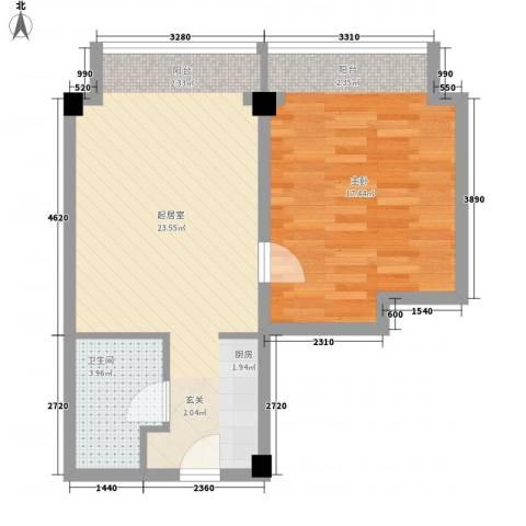 宜家70801室0厅1卫0厨64.00㎡户型图
