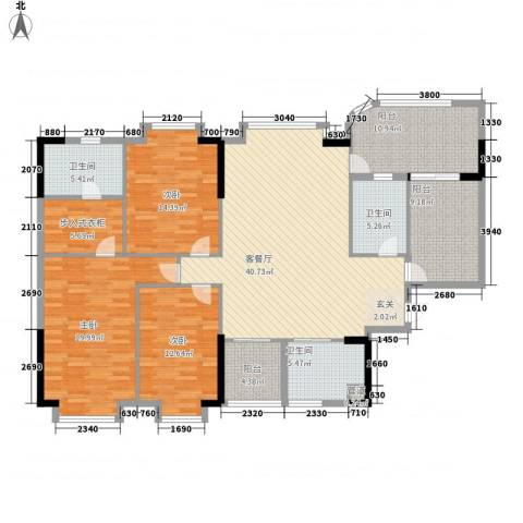 颐景园3室1厅3卫0厨187.00㎡户型图