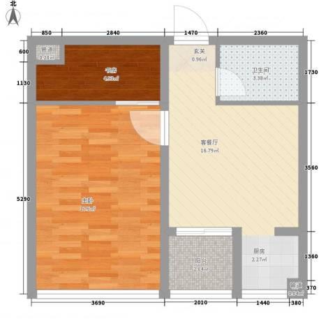 书香国际公寓2室1厅1卫0厨66.00㎡户型图