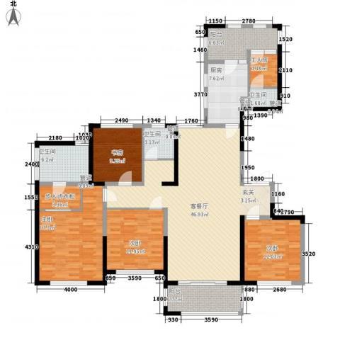 天慧紫辰阁4室1厅3卫1厨180.00㎡户型图