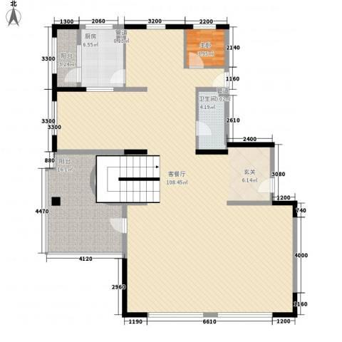 东泰花园荣华苑1室1厅1卫1厨142.65㎡户型图