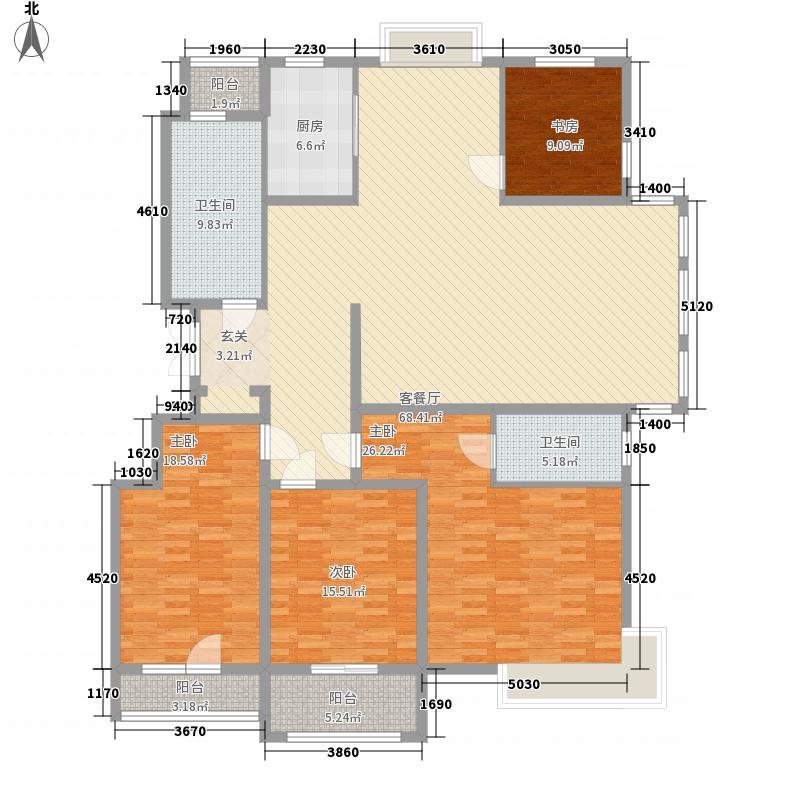 麓山霖语238.43㎡麓山霖语户型图A1户型4室3厅2卫1厨户型4室3厅2卫1厨