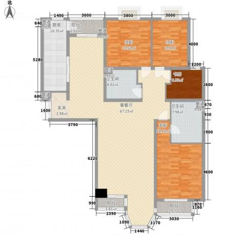 合生国际城4室1厅2卫1厨199.00㎡户型图