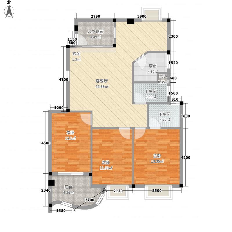 世纪景城113.69㎡世纪景城户型图3室2厅2卫1厨户型10室