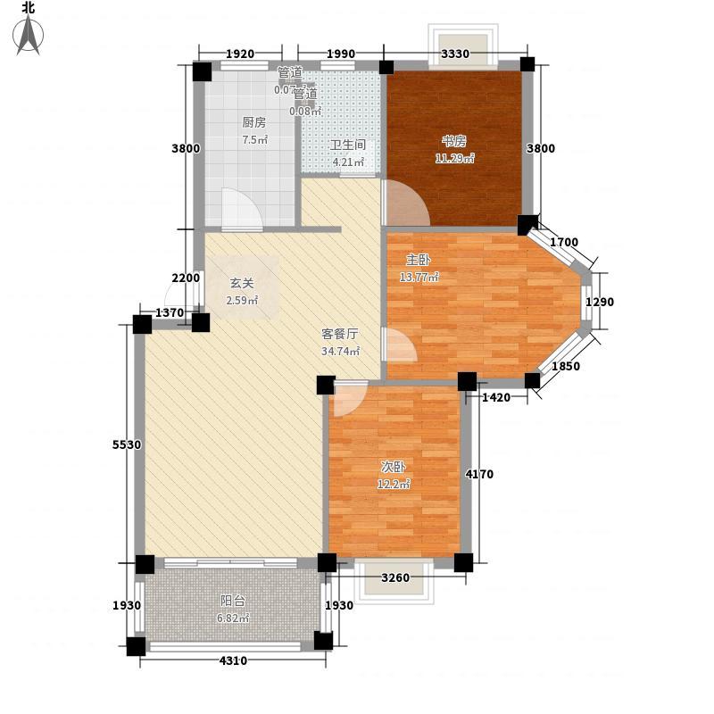 德馨园127.00㎡户型3室2厅2卫1厨
