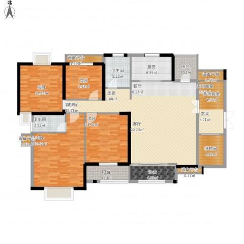 华强城・卡塞雷斯4室1厅2卫1厨204.00㎡户型图