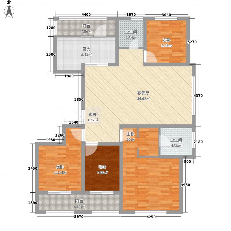 南郊中茵城16.00㎡7#东户D4户型4室2厅2卫1厨