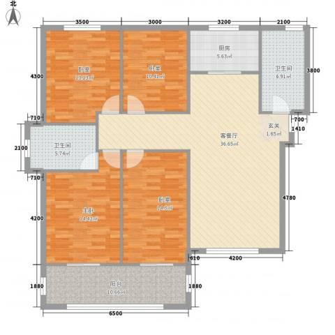 东盛・公园1号1室1厅2卫1厨162.00㎡户型图