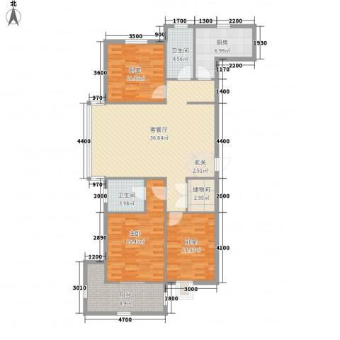 东盛・公园1号1室1厅2卫1厨141.00㎡户型图