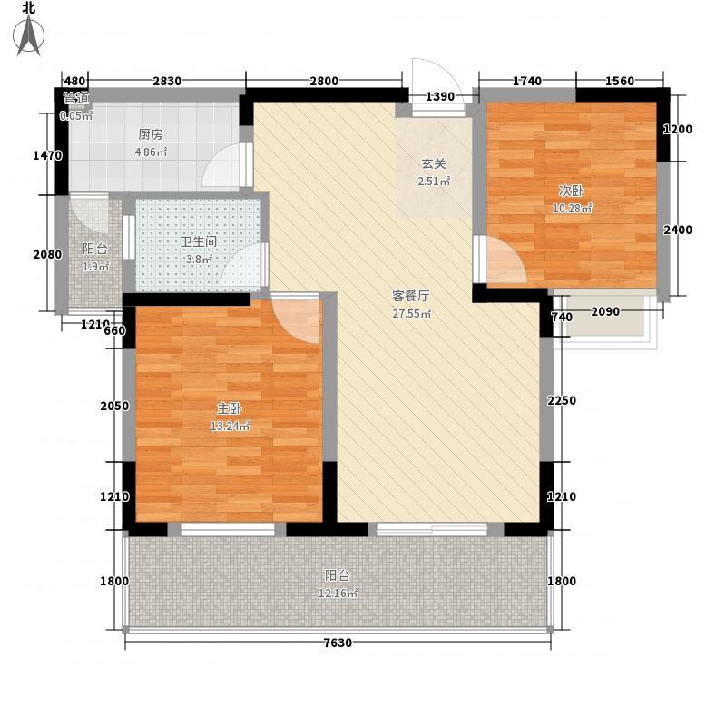 和平家园A区两室两厅户型图6户型2室2厅1卫1厨