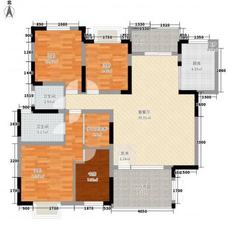 食品三厂宿舍4室1厅2卫1厨156.00㎡户型图