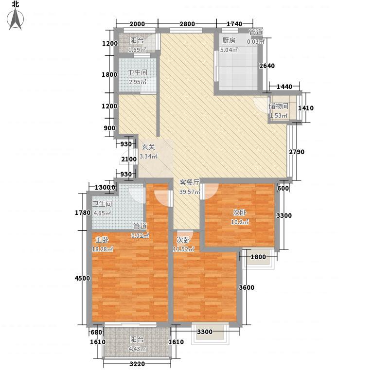 岸上玫瑰130.00㎡岸上玫瑰户型图E型3室2厅2卫户型3室2厅2卫