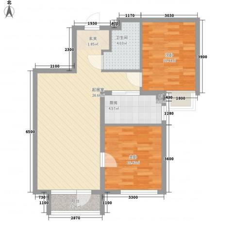 京汉铂寓2室0厅1卫1厨84.00㎡户型图