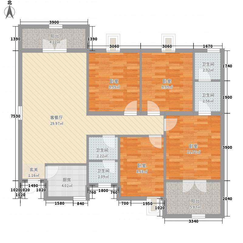 白云・世纪城137.78㎡白云・世纪城H户型(高层)4室2厅2卫1厨137.78㎡户型4室2厅2卫1厨