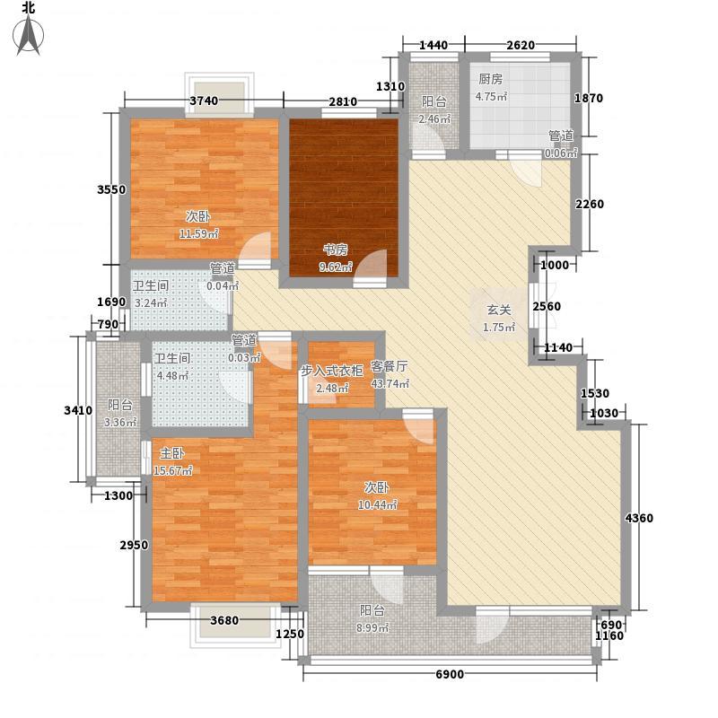 香堤水岸176.00㎡户型4室2厅2卫1厨