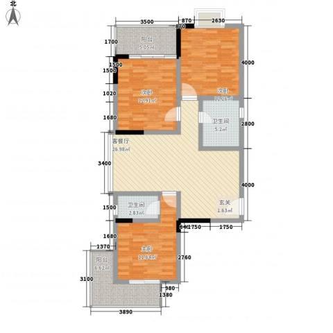 阳光水恋3室1厅2卫0厨120.00㎡户型图