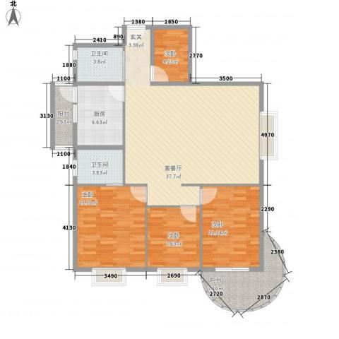 罗宾森广场4室1厅2卫1厨135.00㎡户型图
