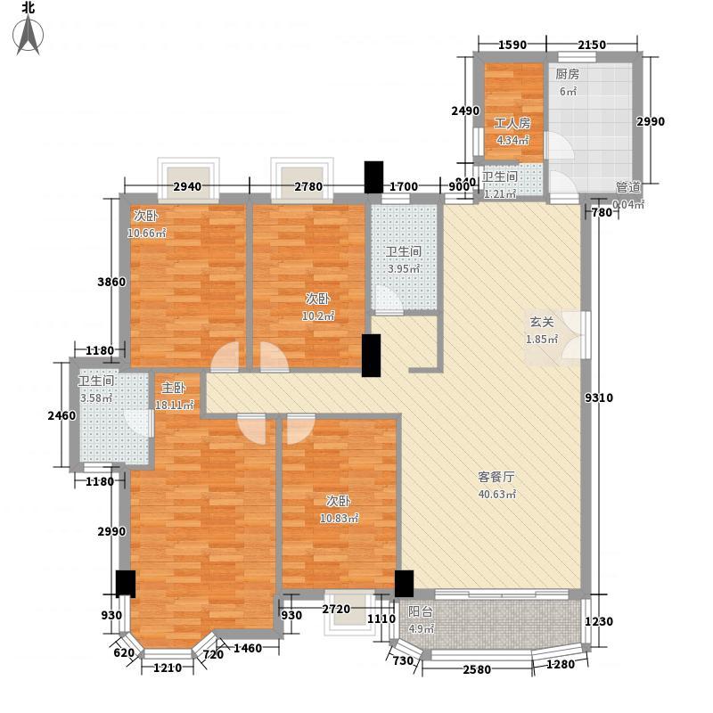 豪峰园158.48㎡深圳豪峰园户型图4户型10室