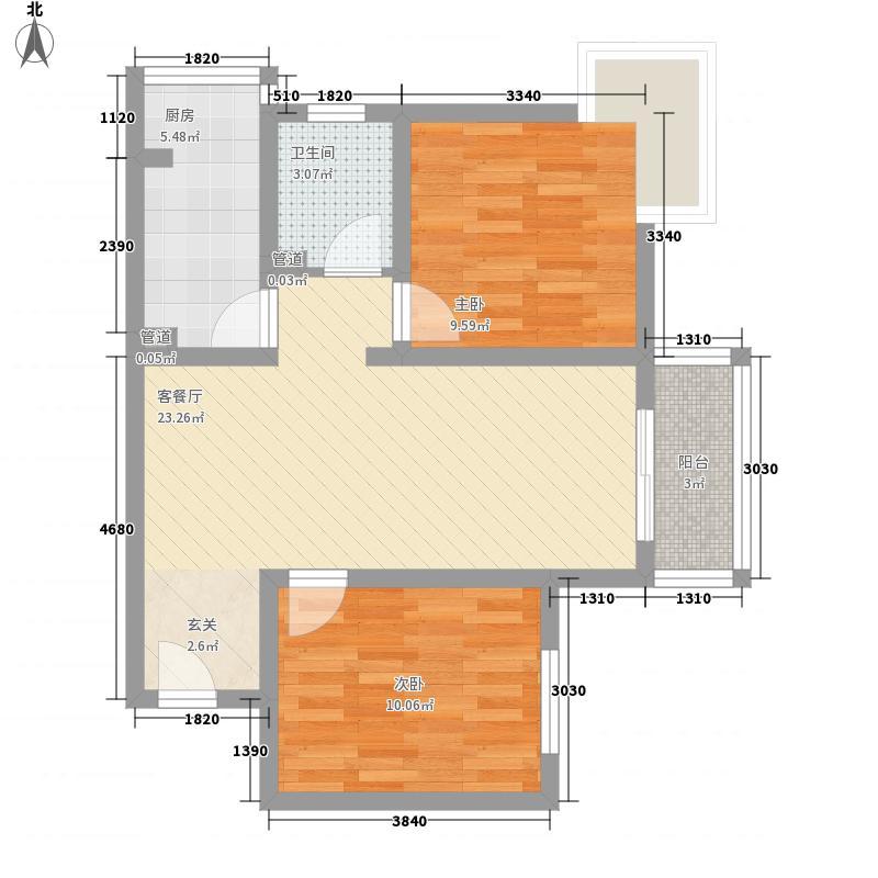 丰盛园80.00㎡丰盛园户型图2室1厅1卫80㎡户型2室1厅1卫