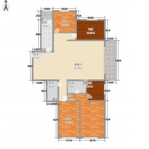 现代经典花园5室1厅2卫1厨206.36㎡户型图
