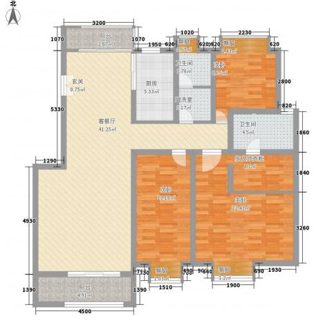 风景翰苑3室1厅2卫1厨115.00㎡户型图