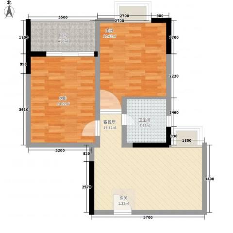 阳光水恋2室1厅1卫0厨80.00㎡户型图
