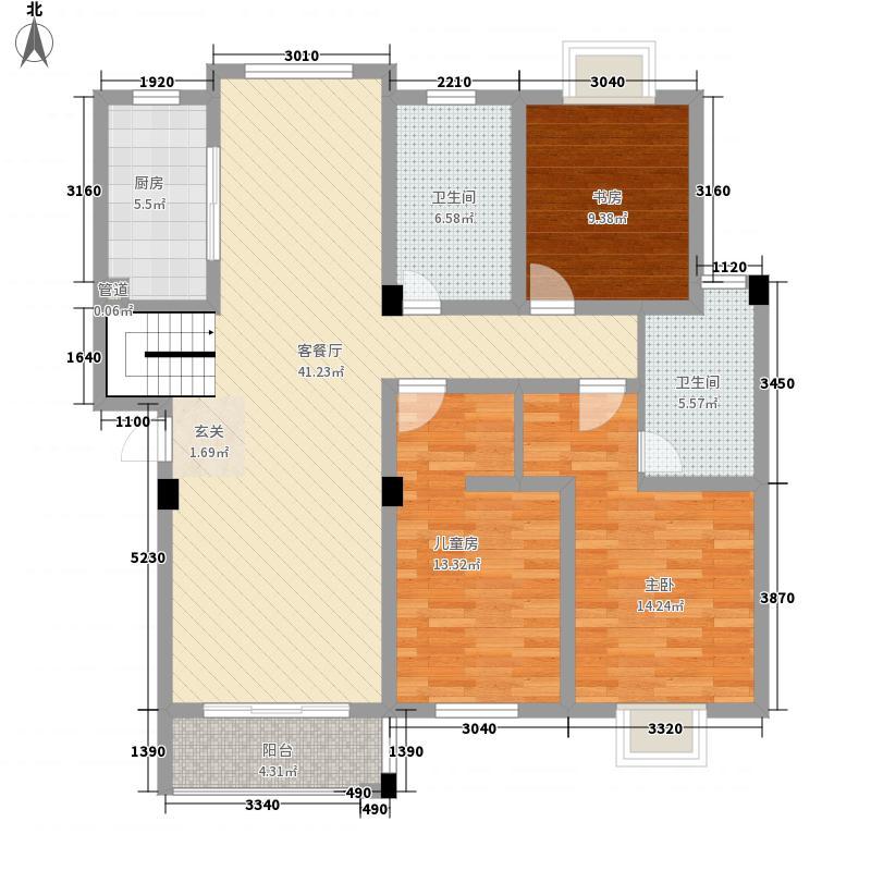 都市清华144.44㎡都市清华户型图创意空间复式下层3室2厅2卫1厨户型3室2厅2卫1厨