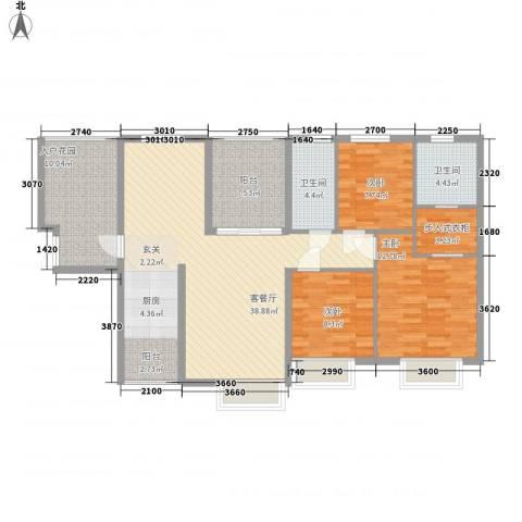 滨江首府3室1厅2卫0厨138.00㎡户型图