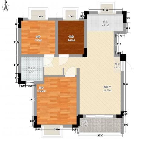 南兵营小区3室1厅1卫0厨90.00㎡户型图