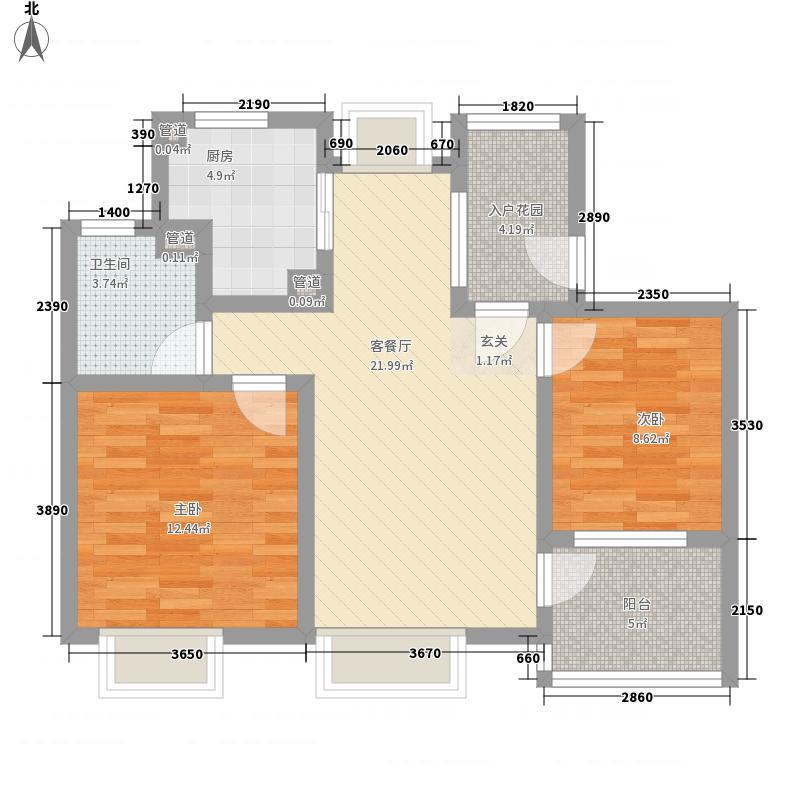 绿地21城D区89.00㎡绿地21城D区樨桂园2室户型2室